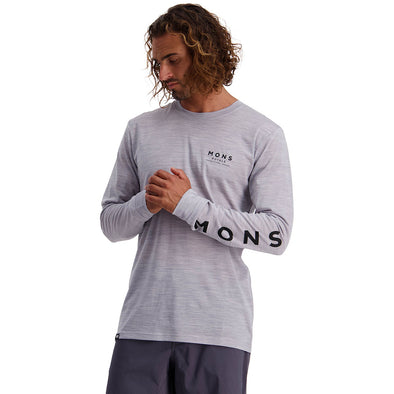 Mons Royale Icon LS - Grey Marl