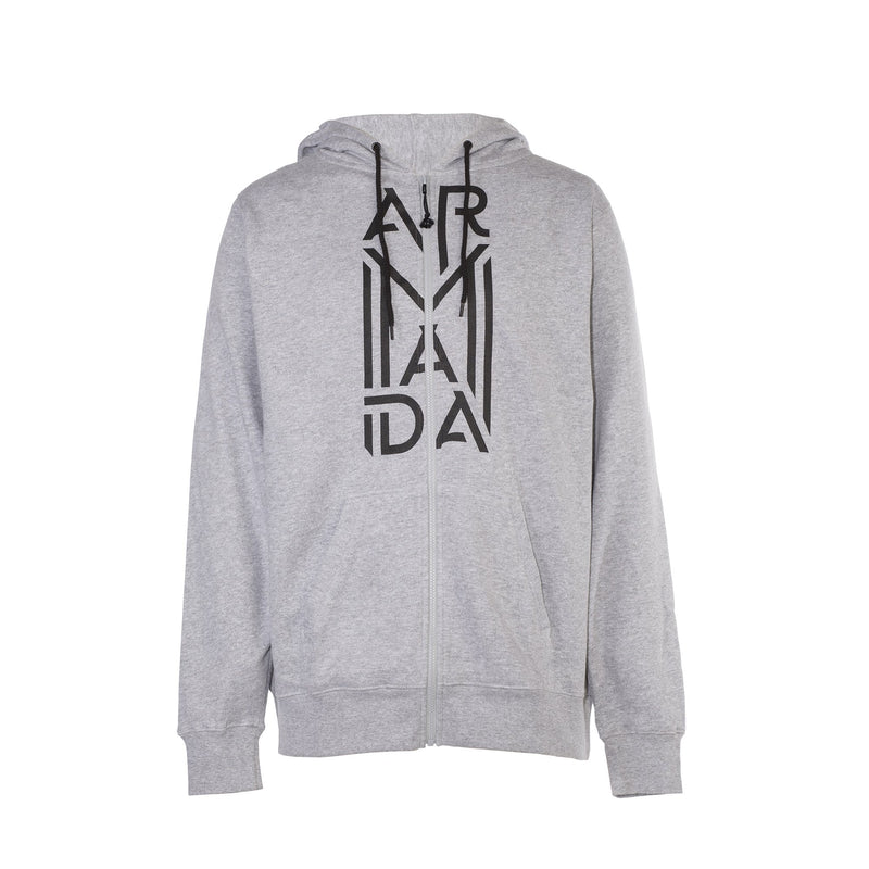 Armada West Zip Hoodie - Heather Grey - Front View