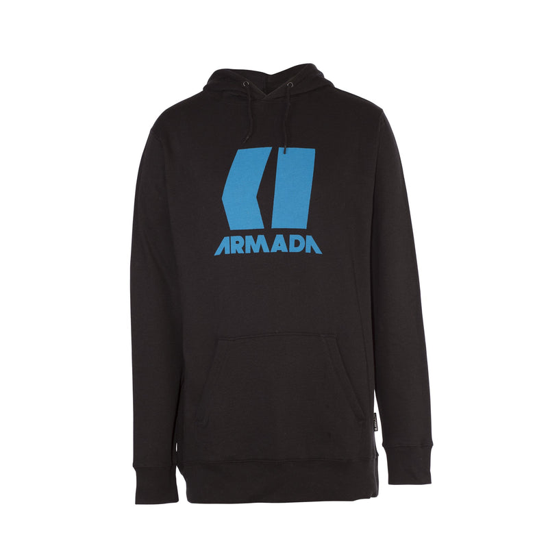 Armada Icon Hoodie - Black/Blue - Front View