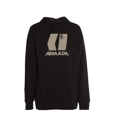 Armada Icon Hoodie - Black/Canvas - Front View