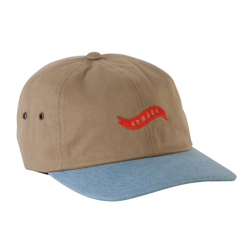 Armada Dads Hot Rod Hat - Khaki - Front View