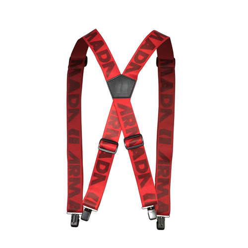 Armada Stage Suspender - Red - Front View