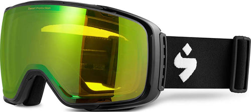 Sweet Protection Interstellar Snow Goggle Matte Black with Beryl Yellow Lens - futureproof-life