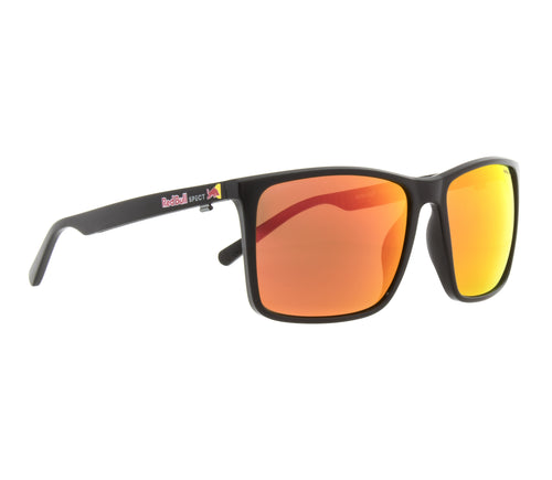 Red Bull SPECT Bow Sunglasses Black/Brown with Red Mirror Polarised - futureproof-life