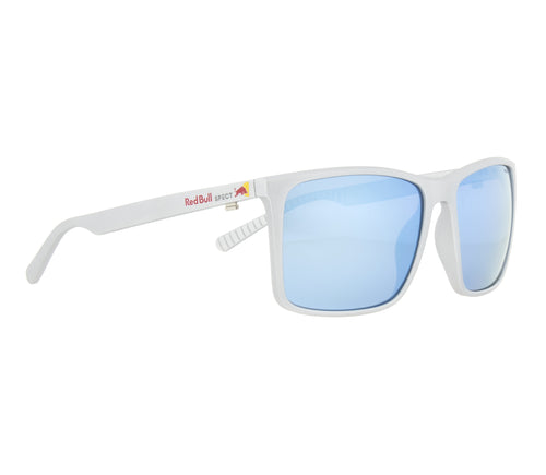 Red Bull SPECT Bow Sunglasses Metallic Silver/Smoke with Blue Mirror Polarised - futureproof-life