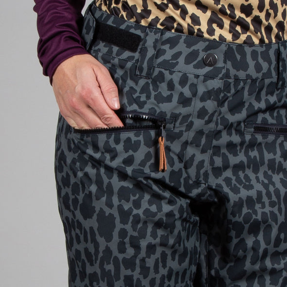 Wearcolour Women's Cork Pant, Black Leo - FW2021 Sample