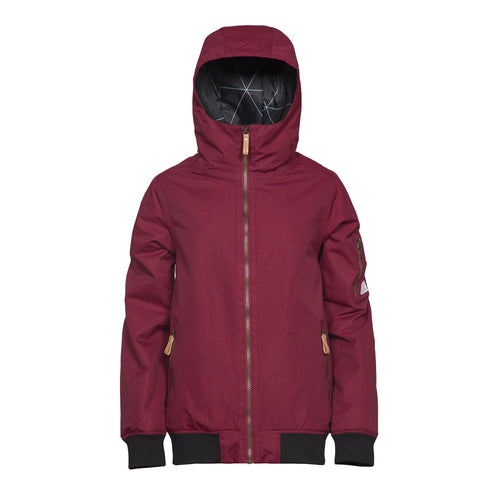 Wear Colour Cover Jacket - Burgundy - Front View