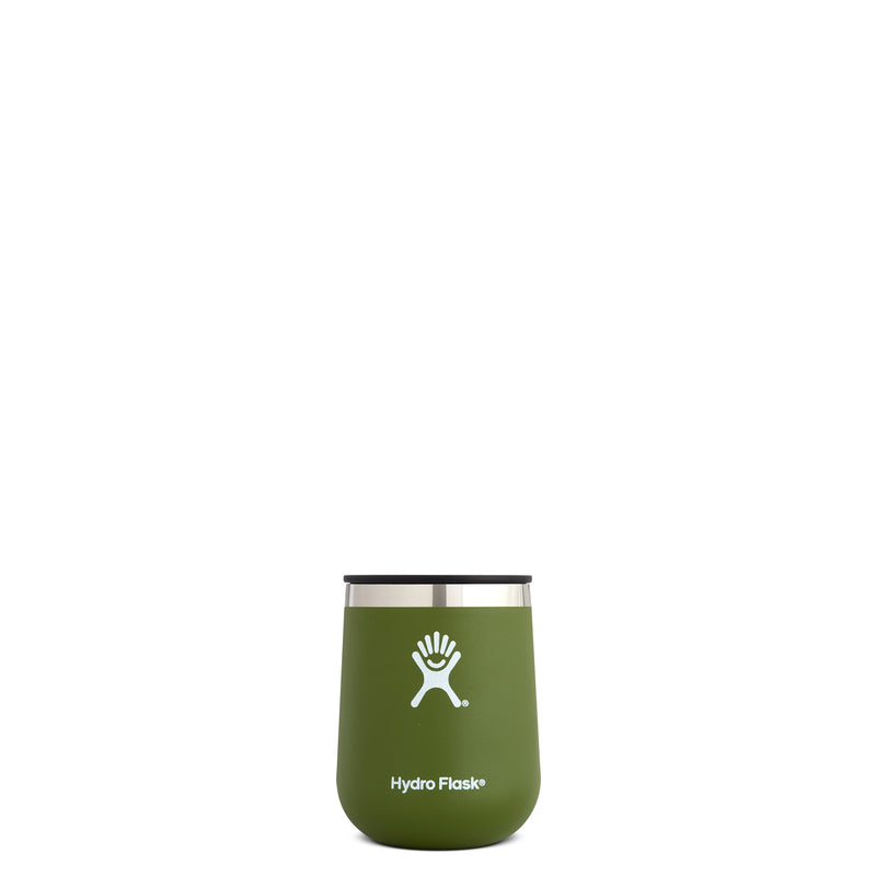 Hyrdo Flask 10 oz Wine Tumbler - Olive // Futureproof.life (perspective)