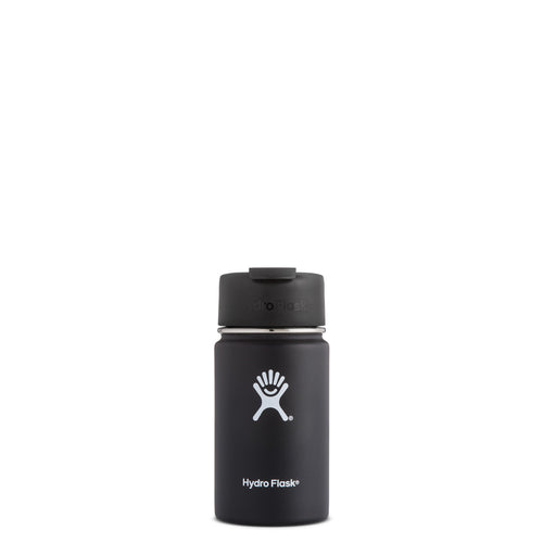 Hyrdo Flask 12 oz Wide Mouth w/Flip Lid -  Black // Futureproof.life (perspective)