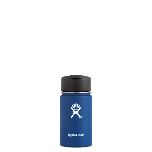 Hyrdo Flask 12 oz Wide Mouth w/Flip Lid - Cobalt // Futureproof.life (perspective)