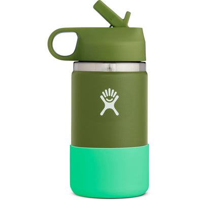 Hydro Flask 12 oz Kids Wide Mouth with Straw Lid in Olive