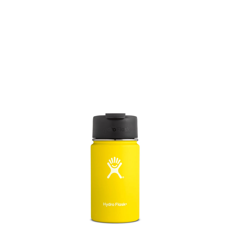 Hyrdo Flask 12 oz Wide Mouth w/Flip Lid - Lemon // Futureproof.life (perspective)