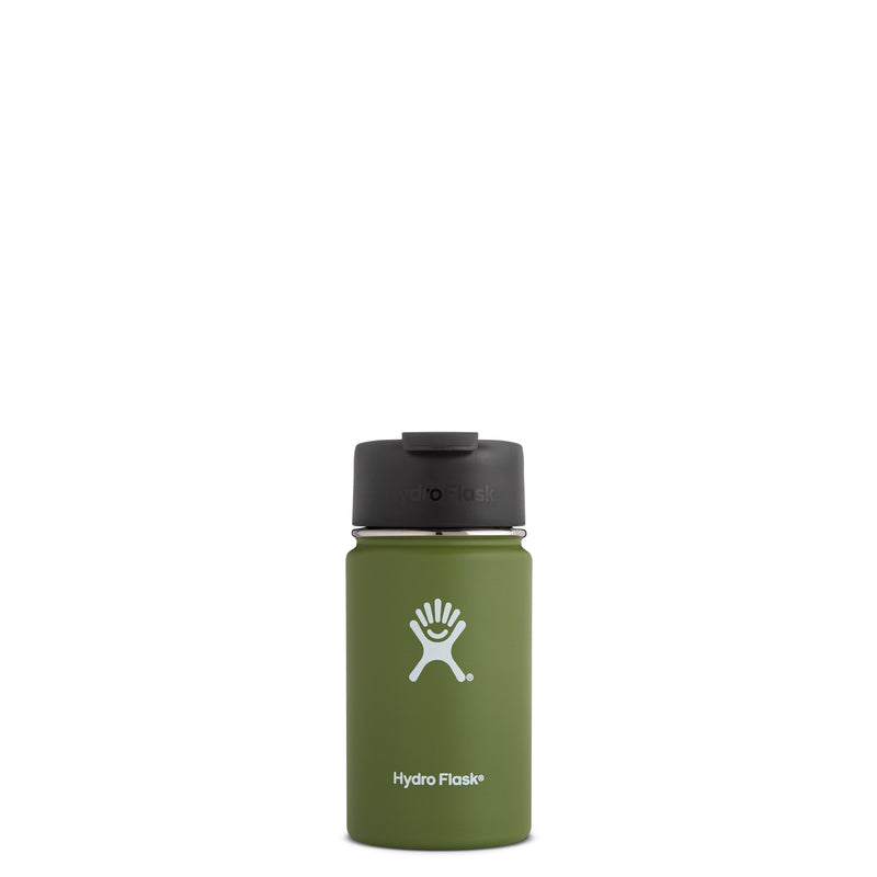 Hyrdo Flask 12 oz Wide Mouth w/Flip Lid - Olive // Futureproof.life (perspective)