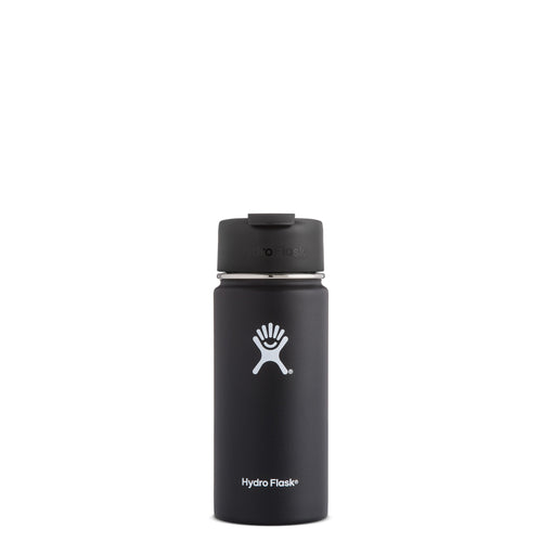Hyrdo Flask 16 oz Wide Mouth w/Flip Lid -  Black // Futureproof.life (perspective)