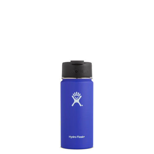 Hyrdo Flask 16 oz Wide Mouth w/Flip Lid - Blueberry // Futureproof.life (perspective)