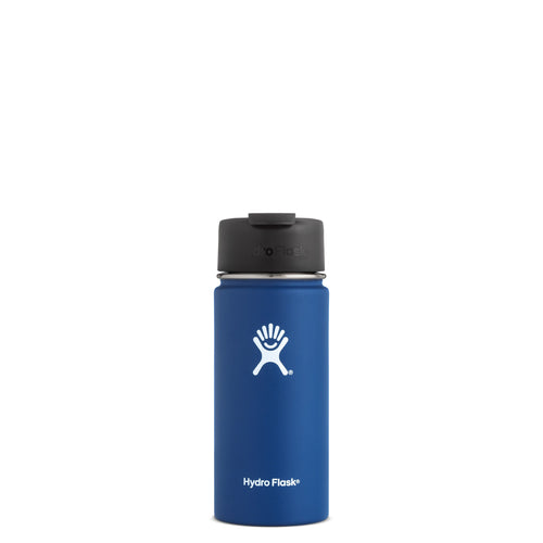 Hyrdo Flask 16 oz Wide Mouth w/Flip Lid - Cobalt // Futureproof.life (perspective)