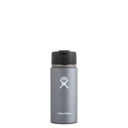 Hyrdo Flask 16 oz Wide Mouth w/Flip Lid - Graphite // Futureproof.life (perspective)