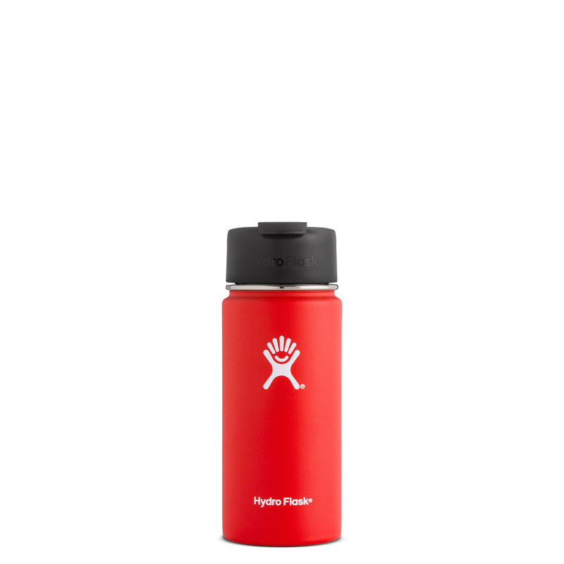 Hyrdo Flask 16 oz Wide Mouth w/Flip Lid - Lava // Futureproof.life (perspective)