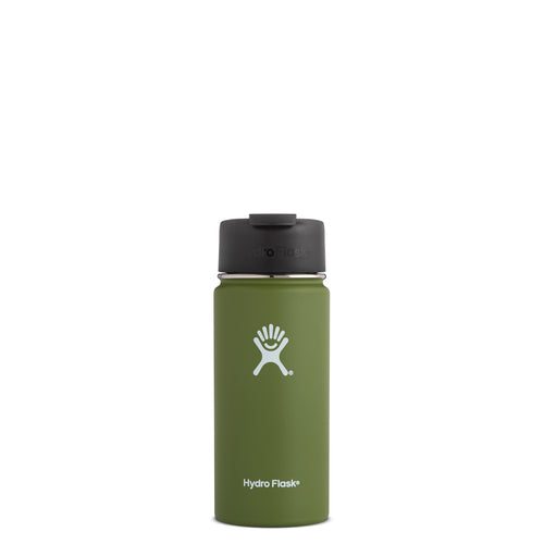 Hyrdo Flask 16 oz Wide Mouth w/Flip Lid - Olive // Futureproof.life (perspective)