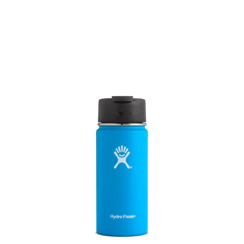 Hyrdo Flask 16 oz Wide Mouth w/Flip Lid - Pacific  // Futureproof.life (perspective)