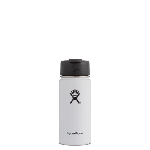 Hyrdo Flask 16 oz Wide Mouth w/Flip Lid - White // Futureproof.life (perspective)
