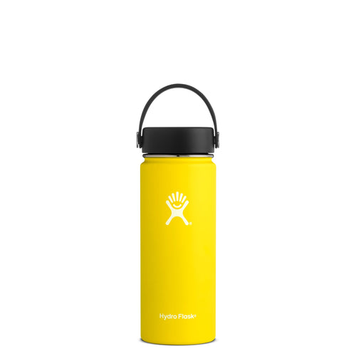 Hyrdo Flask 18 oz Wide Mouth - Lemon // Futureproof.life (perspective)