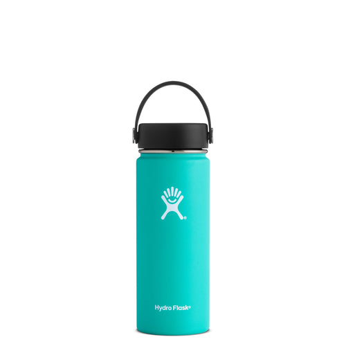 Hyrdo Flask 18 oz Wide Mouth - Mint // Futureproof.life (perspective)