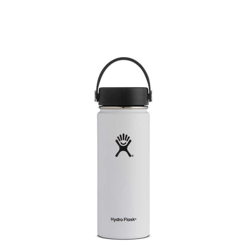 Hyrdo Flask 18 oz Wide Mouth - White // Futureproof.life (perspective)