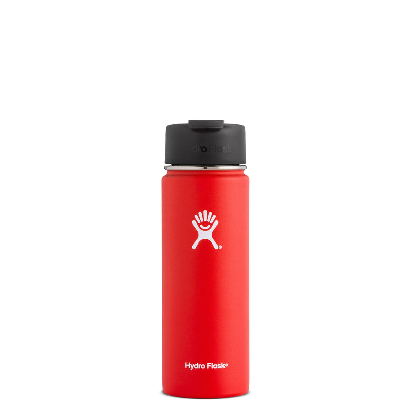 Hyrdo Flask 20 oz Wide Mouth w/Flip Lid - Lava // Futureproof.life (perspective)