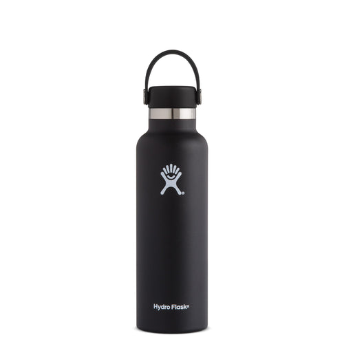 Hyrdo Flask 21 oz Standard Mouth - Black // Futureproof.life (perspective)