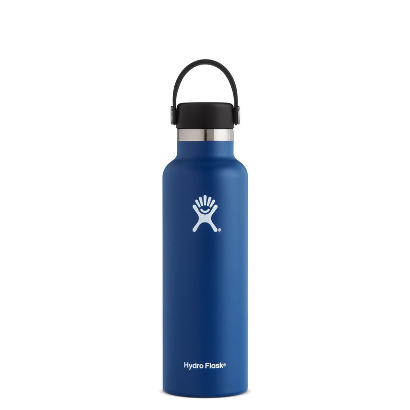 Hyrdo Flask 21 oz Standard Mouth - Cobalt // Futureproof.life (perspective)