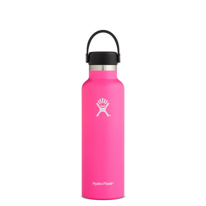 Hyrdo Flask 21 oz Standard Mouth - Flamingo // Futureproof.life (perspective)