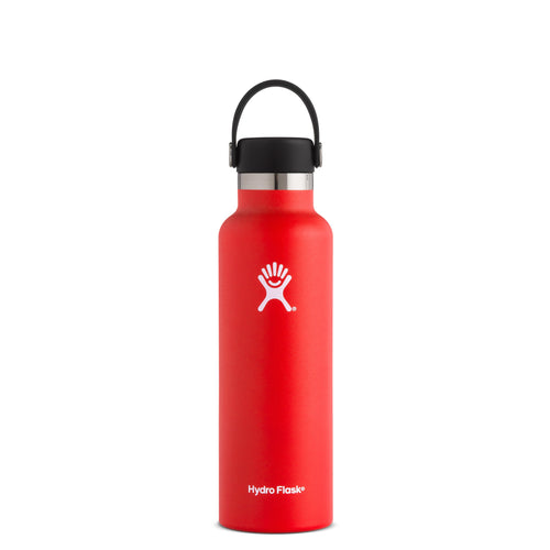Hyrdo Flask 21 oz Standard Mouth - Lava // Futureproof.life (perspective)