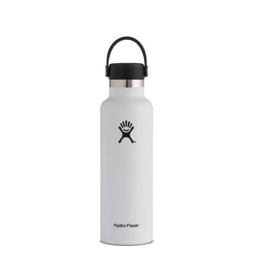 Hyrdo Flask 21 oz Standard Mouth - White // Futureproof.life (perspective)