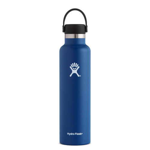 Hyrdo Flask 24 oz Standard Mouth - Cobalt // Futureproof.life (perspective)