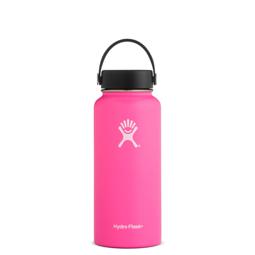 Hyrdo Flask 32 oz Wide Mouth - Flamingo // Futureproof.life (perspective)