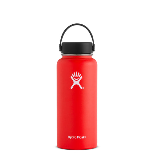 Hyrdo Flask 32 oz Wide Mouth - Lava // Futureproof.life (perspective)