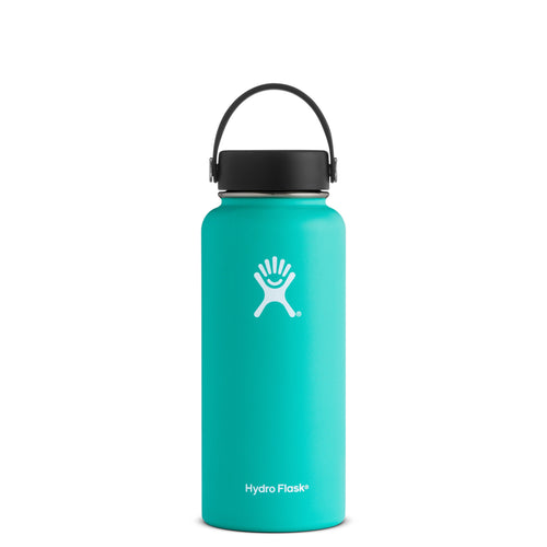 Hyrdo Flask 32 oz Wide Mouth - Mint // Futureproof.life (perspective)