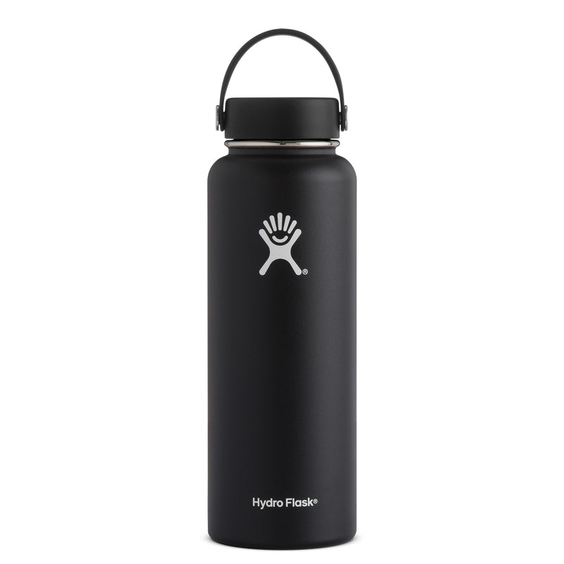 Hyrdo Flask 40 oz Wide Mouth - Black // Futureproof.life (perspective)