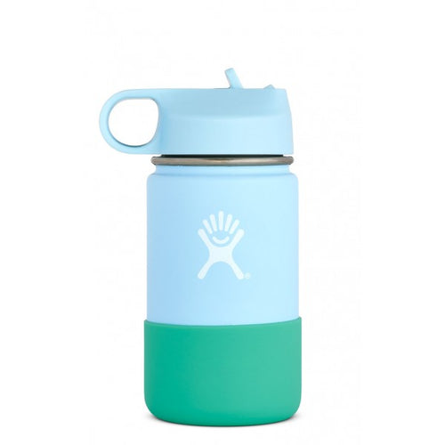 Hydro Flask 12 oz Kids Wide Mouth with Straw Lid in Frost - futureproof-life