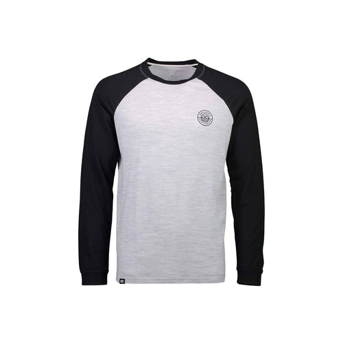 ICON Raglan LS in Black / Grey Marl