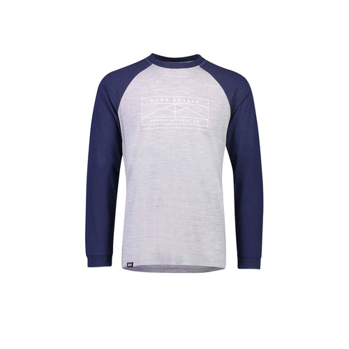 ICON Raglan LS in Navy / Grey Marl