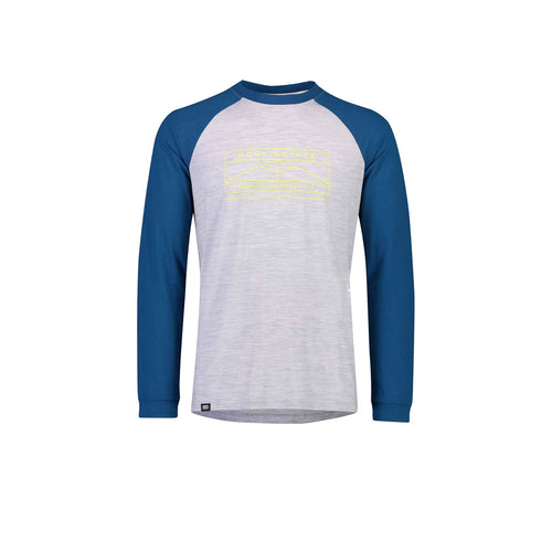 ICON Raglan LS in Oily Blue / Grey Marl