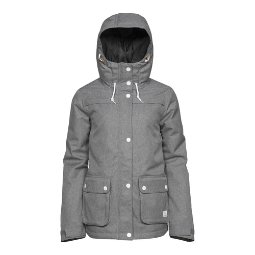 Wear Colour Ida Jacket - Grey Melange - Front View