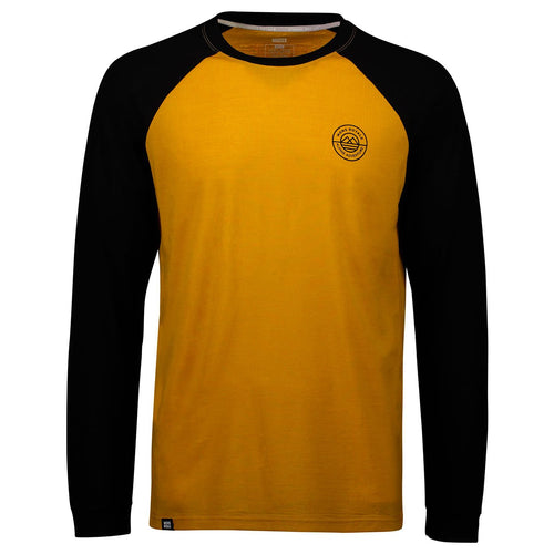 Mons Royale Mens Icon Raglan LS Black/Turmeric - futureproof-life