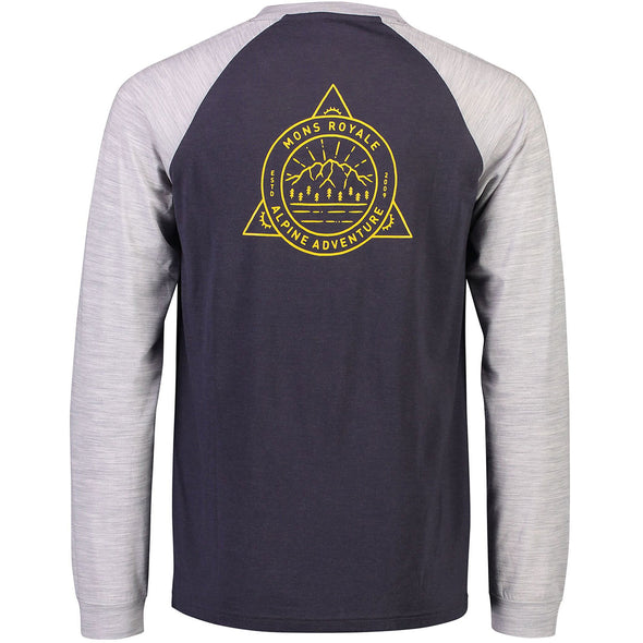 Mons Royale Icon Raglan - 9 Iron/Grey Marl