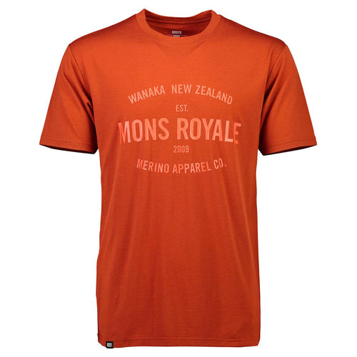 Mons Royale Mens Icon T-Shirt Clay - futureproof-life