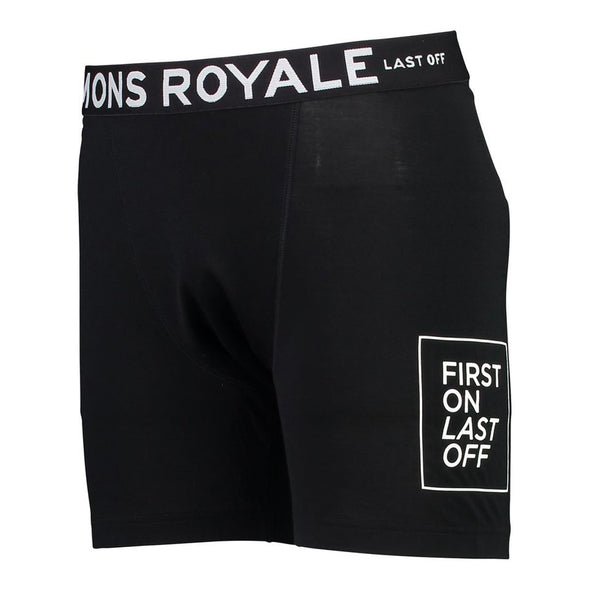 Mons Royale Mens Hold 'em Boxer Oily Blue - futureproof-life