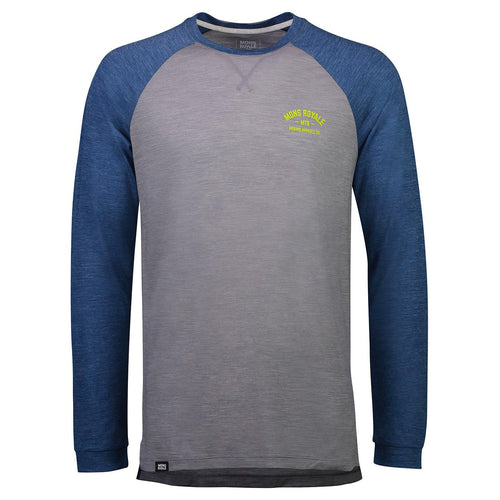 ${brand_name} Mons Royale Mens Vapour Lite LS Oily Blue/Grey Oily Blue / Grey / XL {product_type}