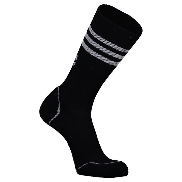Mons Royale Mens Signature Crew Sock Black/Grey - futureproof-life